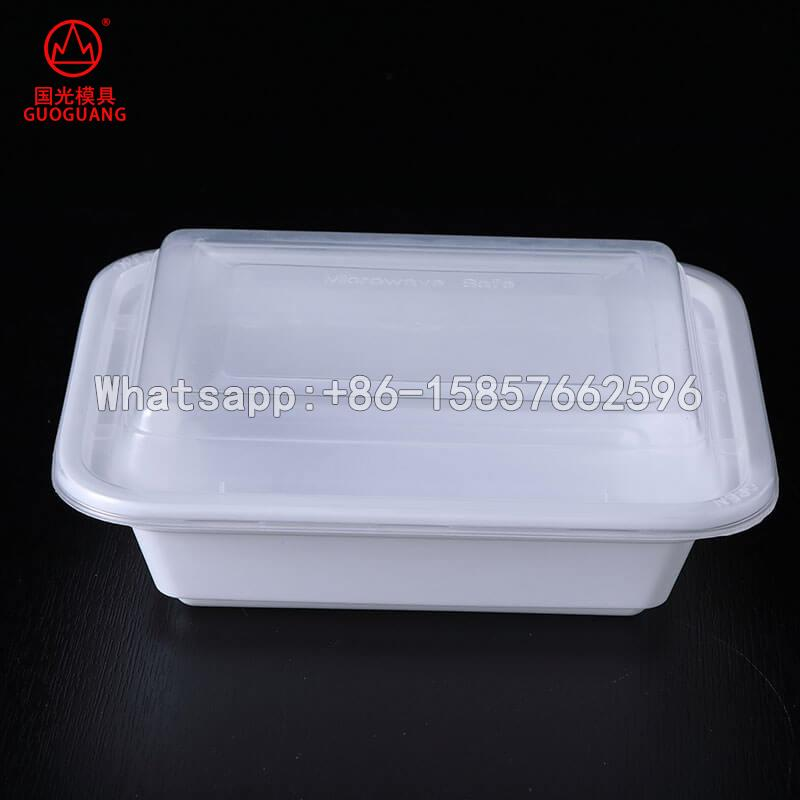 plastic injection container disposable food packaging box