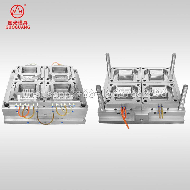 4 cavity fast food packaging container mould