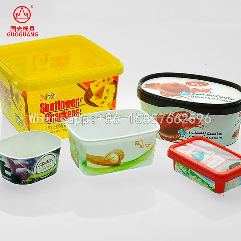 plastic IML mould for container food takeaway packaging box