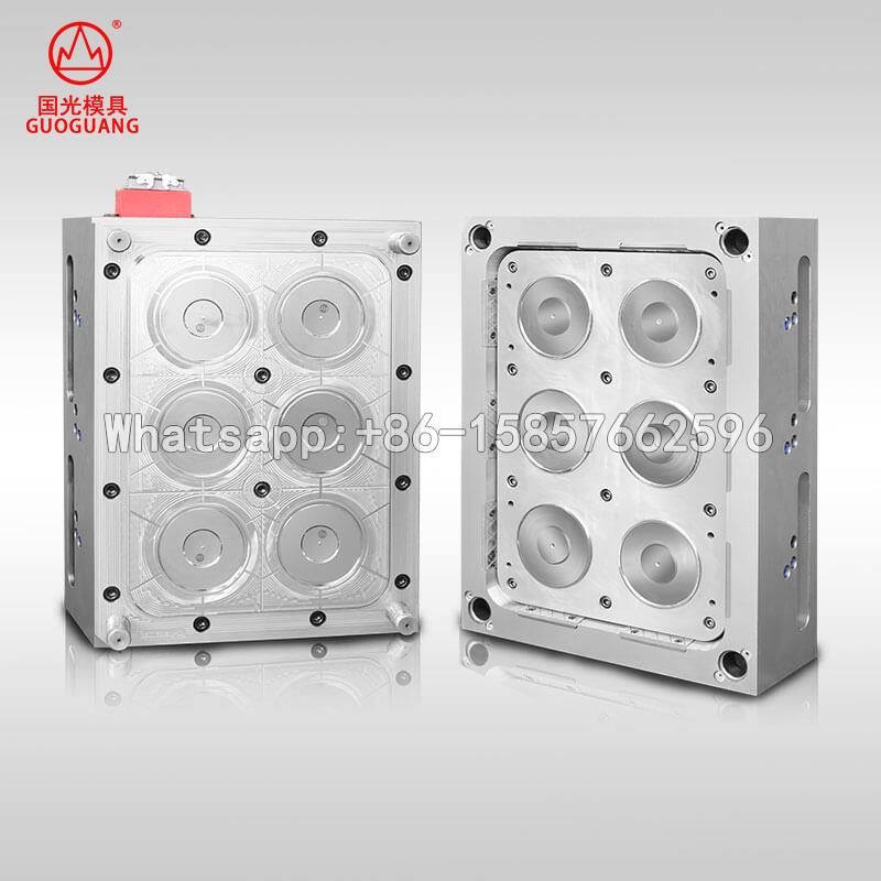 6 cavity Thin wall round box cover mould for 1000ml bowl mould